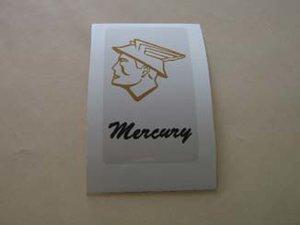 Mercury klistermärke/skattemärke